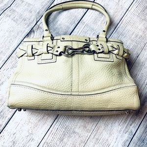 Cream Coach Satchel